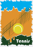 Abstract tennis poster. Vector illustration Royalty Free Stock Photos