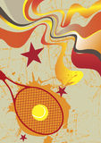 Abstract tennis poster Royalty Free Stock Images