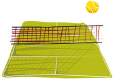 Abstract tennis square. It squares of tennis in abstract drawing Royalty Free Stock Photo