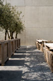 Abstract terrace. Abstract picture of a terrace with plants and chairs Royalty Free Stock Photography