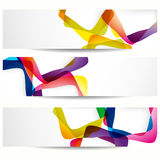 Abstract tetragon banners. Royalty Free Stock Photography