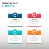 Abstract text box business Infographics elements, presentation template flat design vector illustration for web design marketing Stock Image
