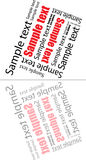 Abstract text composition with mirror image Royalty Free Stock Photography