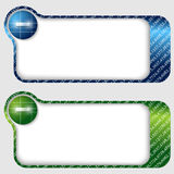 Abstract text frames with minus sign Royalty Free Stock Image