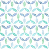 Abstract textile blue green leaves seamless Royalty Free Stock Images