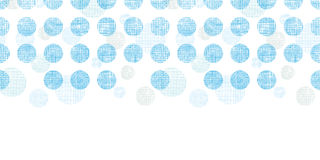 Abstract textile blue polka dots stripes horizontal seamless pattern background Stock Photography