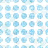 Abstract textile blue polka dots stripes seamless pattern background Stock Photography