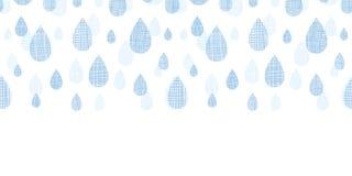 Abstract Textile Blue Rain Drops Horizontal Royalty Free Stock Images