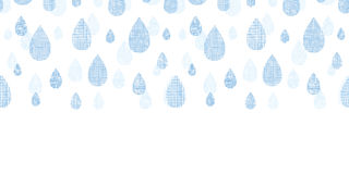 Abstract textile blue rain drops horizontal Royalty Free Stock Images