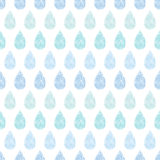 Abstract textile blue rain drops stripes seamless Stock Photo