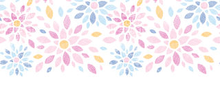 Abstract textile colorful flowers horizontal. Vector abstract textile colorful flowers horizontal seamless pattern background Stock Photo