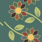 Abstract textile colorful flowers seamless pattern background Stock Images