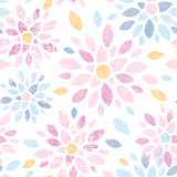Abstract textile colorful flowers seamless pattern. Vector abstract textile colorful flowers seamless pattern background Stock Photography