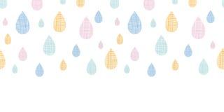 Abstract Textile Colorful Rain Drops Horizontal Royalty Free Stock Photos