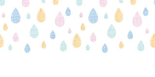 Abstract textile colorful rain drops horizontal Royalty Free Stock Photos