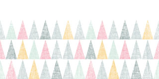 Abstract textile colorful textured triangles Stock Image