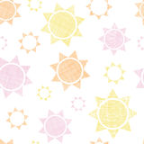 Abstract textile colroful suns geometric seamless Stock Photos