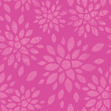 Abstract textile flowers pink seamless pattern background Royalty Free Stock Photo