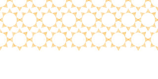 Abstract textile golden suns geometric horizontal Royalty Free Stock Photos