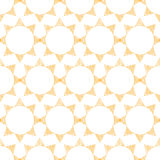 Abstract textile golden suns geometric seamless Royalty Free Stock Photo