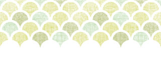 Abstract textile green fishscale horizontal Royalty Free Stock Image