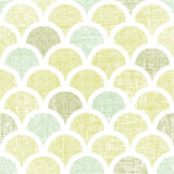 Abstract textile green fishscale seamless pattern Stock Photo