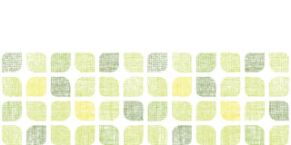 Abstract textile green rounded squares horizontal Royalty Free Stock Images