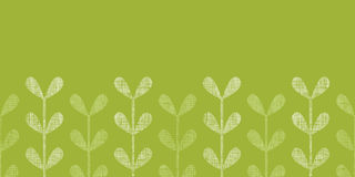 Abstract textile green vines leaves horizontal Royalty Free Stock Image