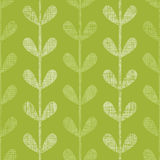 Abstract textile green vines leaves seamless Royalty Free Stock Image