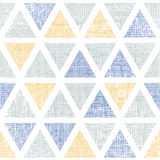 Abstract textile ikat triangles seamless pattern Royalty Free Stock Photo