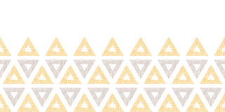 Abstract textile ikat yellow brown triangles Stock Photo