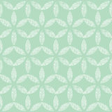 Abstract textile mint green leaves geometric Stock Photos