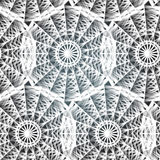Abstract textile pattern of white lace polygonal Royalty Free Stock Photography