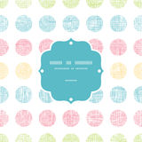 Abstract textile polka dots stripes frame seamless Royalty Free Stock Photography
