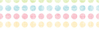 Abstract textile polka dots stripes horizontal seamless pattern background Royalty Free Stock Photography