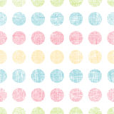 Abstract textile polka dots stripes seamless pattern background Royalty Free Stock Photography