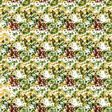 Abstract textile seamless pattern of colored dots in green Stock Photo