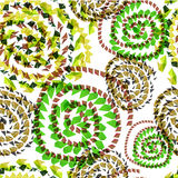 Abstract textile seamless pattern of green triangles twisted Royalty Free Stock Images