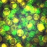 Abstract textile seamless pattern of green and yellow points Royalty Free Stock Photos