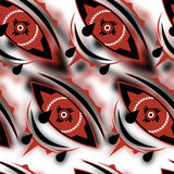 Abstract textile seamless pattern of national pattern. In the form of the eye vector illustration