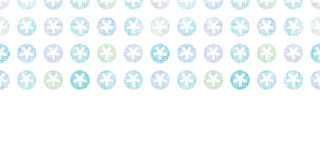 Abstract Textile Snowflakes Dots Horizontal Royalty Free Stock Image