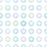 Abstract Textile Snowflakes Dots Seamless Pattern Royalty Free Stock Photography