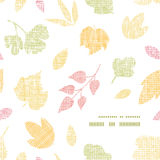 Abstract textile texture fall leaves frame corner Stock Photo