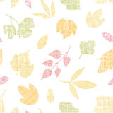 Abstract textile texture fall leaves seamless Stock Photography