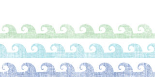 Abstract textile waves stripes horizontal seamless Royalty Free Stock Images