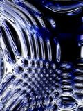 Abstract texture. Abstract techno texture with black and blue Stock Image