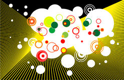 Abstract texture. With circles vector illustration