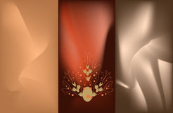 Abstract texture. It was created with light waves an different backgrounds Royalty Free Stock Photo