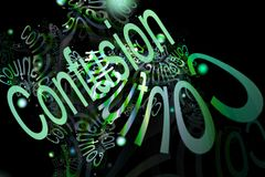Abstract background with text Stock Image