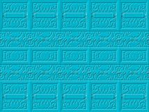 Textural blue background. Embossed pattern. Royalty Free Stock Image